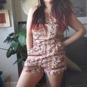 Coachella // H&M hippie boho floral romper shorts